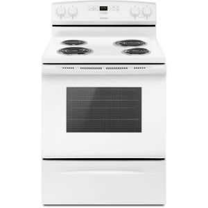 Amana ACR4303MFW 30-inch Electric Range with Bake Assist Temps - White