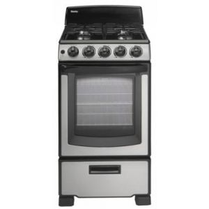 Danby DR202BSSGLP 20 Inch Freestanding All Gas Range with Natural Gas, 4 Sealed Burners, 2.4 cu. ft. Total Oven Capacity
