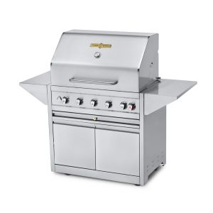 """Crown Verity EE-36M-NG Mobile 36"""" Grill Elite Series With 2 Doors - Natural Gas"""
