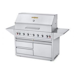 """Crown Verity EE-48M-1RD-2DWR Mobile 48"""" Grill Elite Series, Single Dome With 2 Drawers & 1 Door (LP)"""