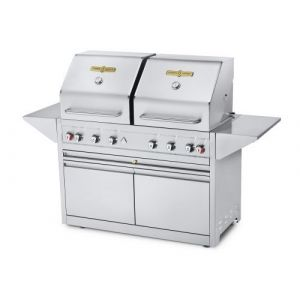 """Crown Verity EE-48M-2RD Mobile 48"""" Grill Elite Series, Dual Dome With 2 Doors (LP)"""