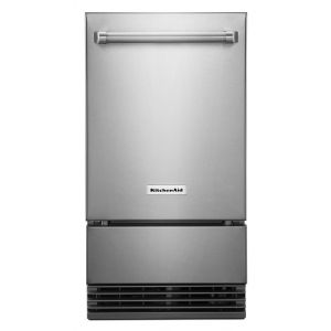 "KITCHENAID KUIO338HSS - KitchenAid(R) 18"" Outdoor Automatic Ice Maker - Stainless Steel"