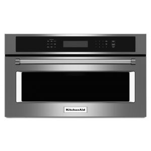 "KITCHENAID KMBP100ESS - 30"" Built In Microwave Oven with Convection Cooking - Stainless Steel"