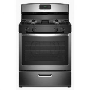 AMANA AGR5330BAS - 30-inch Gas Range with Easy Touch Electronic Controls - Stainless Steel