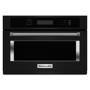 "KITCHENAID KMBS104EBL - 24"" Built In Microwave Oven with 1000 Watt Cooking - Black"
