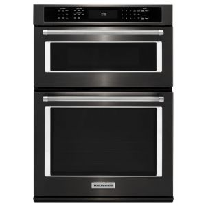 "KITCHENAID KOCE507EBS - 27"" Combination Wall Oven with Even-Heat True Convection (lower oven) - Black Stainless Steel with PrintShield(TM) Finish"
