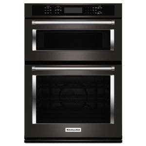 """KITCHENAID KOCE500EBS - 30"""" Combination Wall Oven with Even-Heat True Convection (Lower Oven) - Black Stainless Steel with PrintShield(TM) Finish"""