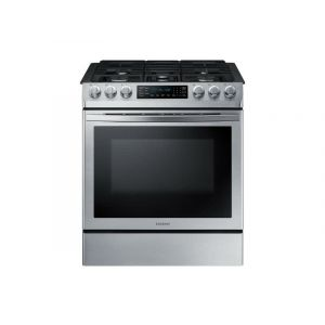 SAMSUNG NX58R9421SS - 5.8 cu. ft. Convection Slide-in Gas Range in Stainless Steel