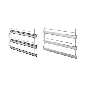 SMEG GT90X - 3 level telescopic shelf set