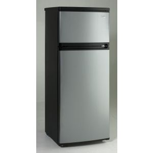 AVANTI RA7316PST - 7.4 CF Two Door Apartment Size Refrigerator - Black w/Platinum Finish