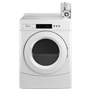 "WHIRLPOOL CGD9150GW - 27"" Commercial Gas Front-Load Dryer Featuring Factory-Installed Coin Drop with Coin Box"