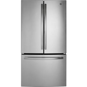 GE GNE27JYMFS - Bottom Freezer - French Door 26.7 Cu FT, Adv Fltr, LED, internal H2O