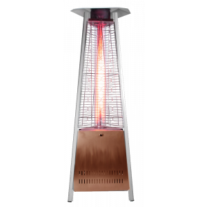"SUNHEAT PHTRGH-34 NEW! 6' 2"" Decorative Flame Triangle Glass Tube Golden Hammer Commercial Patio Heater PHTRGH-34"