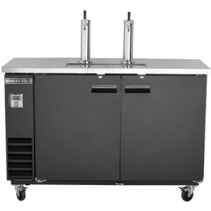 """MAXX Ice MXBD60-2B 62"""" X-Series Keg Cooler with 14.2 cu. ft. Capacity in Black"""