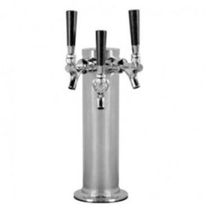 MAXX Ice D4743STT 3 Faucet Cylinder Tower in Polished Stainless Steel