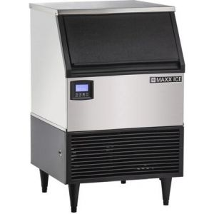 MAXX Ice MIM150N Intelligent Series Self-Contained Ice Machine with 152 lbs. Ice Production in Stainless Steel