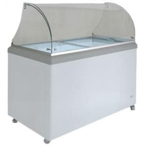 MAXX Ice MXDC4 Ice Cream Dipping Cabinet with 7.5, cu. ft. Capacity in White