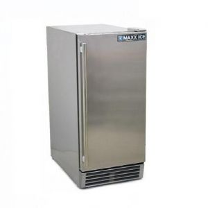 """MAXX Ice MCR3UO 15"""" Commercial Outdoor Refrigerator with 3 cu. ft. Capacity in Stainless Steel"""