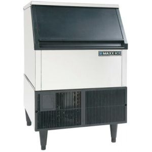 """MAXX Ice MIM265H 24"""" Self Contained Ice Maker with 265 lbs. Ice Production in Stainless Steel"""