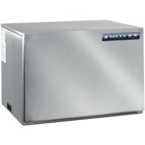 """MAXX Ice MIM615H 30"""" Modular Ice Maker with 615 lbs. Daily Ice Production in Stainless Steel"""
