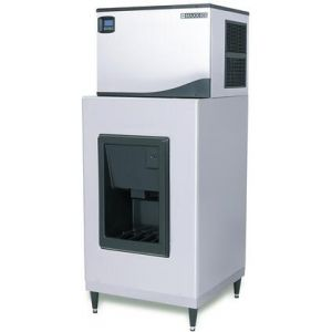 """MAXX Ice MIDX200 30"""" Hotel Ice Dispenser with 190 lbs. Storage Capacity in Stainless Steel"""