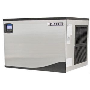 """MAXX Ice MIM650N 30"""" Modular Ice Maker with 650 lbs. Daily Ice Production in Stainless Steel"""