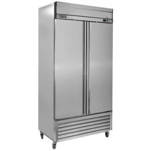 """MAXX Ice MXSR-49FD 55"""" Select Series Solid Door Reach-In Refrigerator with 42.9 cu. ft. Capacity in Stainless Steel"""