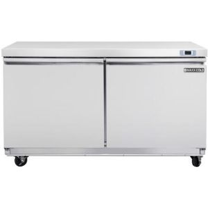 """MAXX Ice MXSF60U 61"""" Select Series Undercounter Freezer with 14.1 cu. ft. Capacity in Stainless Steel"""