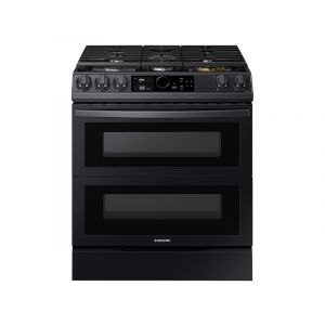 SAMSUNG NX60T8751SG 6.0 cu. ft. Flex Duo(TM) Front Control Slide-in Gas Range with Smart Dial, Air Fry & Wi-Fi in Black Stainless Steel