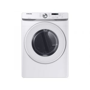 SAMSUNG DVE45T6020W 27 Inch Electric Dryer with 7.5 cu. ft. Capacity