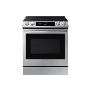 SAMSUNG NE63T8711SS 30 Inch Smart Slide-in Electric Range with 5 Elements