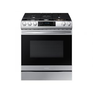 SAMSUNG NX60T8511SS 30 Inch Smart Slide-in Gas Range with 5 Sealed