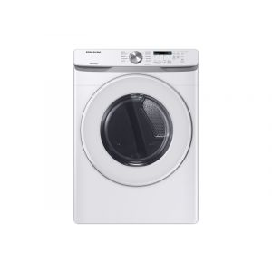 SAMSUNG DVE45T6000W 27 Inch Electric Dryer with 7.5 cu. ft. Capacity