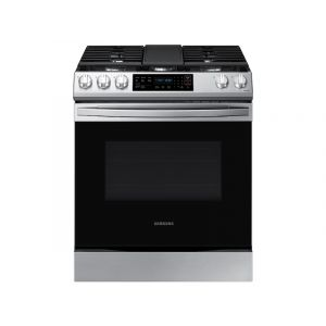 SAMSUNG NX60T8311SS 30 Inch Smart Slide-in Gas Range with 5 Sealed