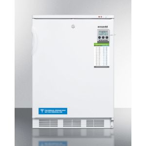 """SUMMIT VT65MLMED - 24"""" Wide All-freezer for Freestanding Use Capable of -25 C Operation; Includes Audible Alarm, Lock, and Hospital Grade Plug"""