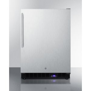 SUMMIT SPFF51OSCSSHVIM - Frost-free Outdoor All-freezer In Complete Stainless Steel, With Icemaker, Digital Thermostat, Thin Handle, and Lock; Built-in or Freestanding Use
