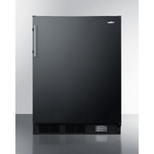 SUMMIT BKRF663B - Counter Height Break Room Refrigerator-freezer In Black With Nist Calibrated Thermometer and Alarm