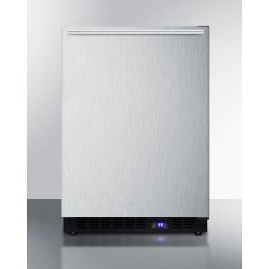 SUMMIT SCFF53BXCSSHHIM - Frost-free Built-in Undercounter All-freezer for Residential Use, With Factory Installed Icemaker, Stainless Steel Wrapped Exterior, and Horizontal Handle