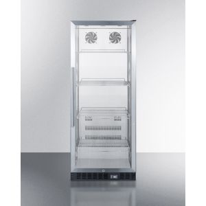 SUMMIT SCR1156 - Commercial Beverage Merchandiser With 11 CU.FT. Capacity, Ss Interior, Self-closing Door, and A Digital Thermostat