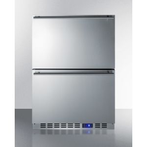 SUMMIT SPFF51OS2D - Two-drawer Outdoor Frost-free All-freezer In Stainless Steel, Commercially Listed for Built-in or Freestanding Use