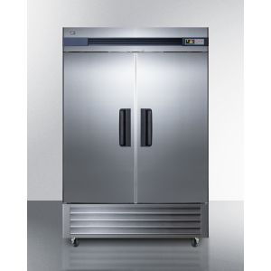 SUMMIT SCRR492 - 49 CU.FT. Commercial Reach-in Refrigerator In Complete Stainless Steel With Glass Doors