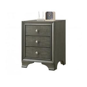 ACME FURNITURE INC 97494 - Gray Nightstand W/there Drws