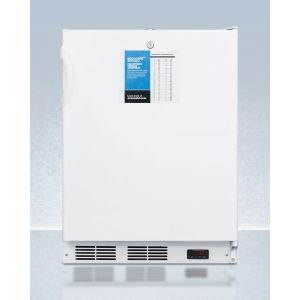"""SUMMIT VT65MLPROADA - ADA Compliant 24"""" Wide -25 c All-freezer for Freestanding Use, Manual Defrost With A Lock and Probe Hole for User-installed Monitoring Equipment"""