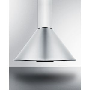 SUMMIT SEH6624CADA - 24 Inch ADA Compliant European Wall-mounted Range Hood In Stainless Steel With Remote Wall Switch