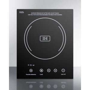SUMMIT SINC1110 - Built-in Induction Cooktop With Single Zone, 1800 Watts, 120 Volts, and Black Ceran Smooth-top Finish