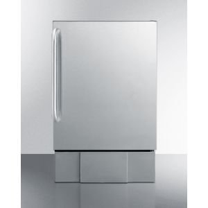 SUMMIT BIM24OS - Outdoor Icemaker for Built-in Use, In Complete Stainless Steel With Towel Bar Handle