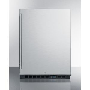 SUMMIT SCR610BLSDCSS - Built-in Undercounter Commercial All-refrigerator W/ss Interior, Lock, Digital Thermostat, and Complete Stainless Steel Exterior