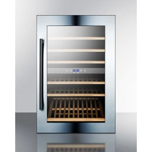 SUMMIT VC60D - 51 Bottle Fully Integrated Dual Zone Wine Cellar With Digital Controls and LED Lighting