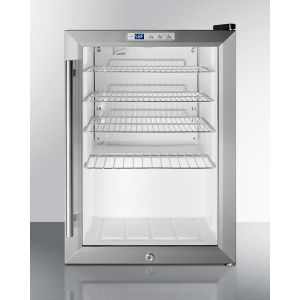 SUMMIT SCR312LPUB - Commercial Glass Door Pub Cellar for Countertop Use, With Digital Thermostat and Lock