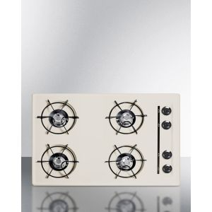 """SUMMIT SNL05P - 30"""" Wide Cooktop In Bisque, With Four Burners and Battery Start Ignition; Replaces Stl05p"""